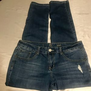 3/$20 SO Distressed Skinny Jeans-Size 15 (juniors)